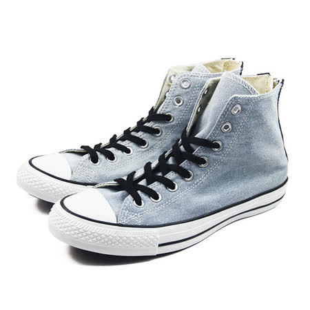 (U系列)CONVERSE Chuck Taylor All Star Back Zip 帆布鞋 淺藍-147915C