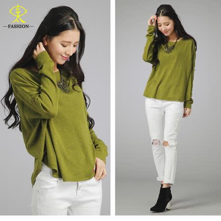 玄太-簡約棉質百搭顯瘦針織衫(綠/灰/深黃)