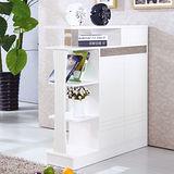 【幸福屋】約瑟芬3.3尺白色吧檯鞋櫃