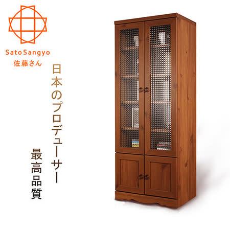 【勸敗】gohappy 線上快樂購【Sato】 PISTRO巴黎公寓四門玻璃高置物櫃‧幅60cm效果崇光