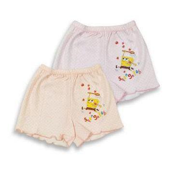 海綿寶寶 女童印花平口褲-採草莓篇 (4件組)