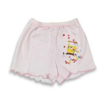 海綿寶寶 女童印花平口褲-採草莓篇 (2件組)