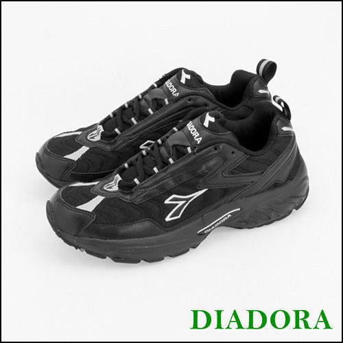 男 DIADORA  輕量慢跑鞋  款 黑灰 2770