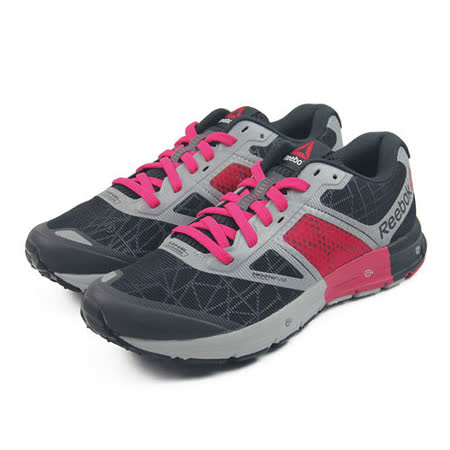 (女)REEBOK ONE CUSHION 2.0 CITYLITE 慢跑鞋 黑/桃紅-M45621