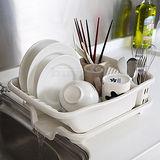 ◤碗筷、盤子清洗◢排水式碗盤收納瀝水架