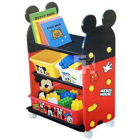 玩具收納櫃套組(附輪子) 米奇