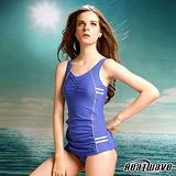 【Heatwave熱浪】舞動藍寶 萊克連身泳裝