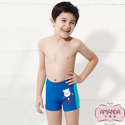 AMANDA 基隆 愛 買 營業 時間艾曼達 兒童泳褲 二分-藍寶-7901
