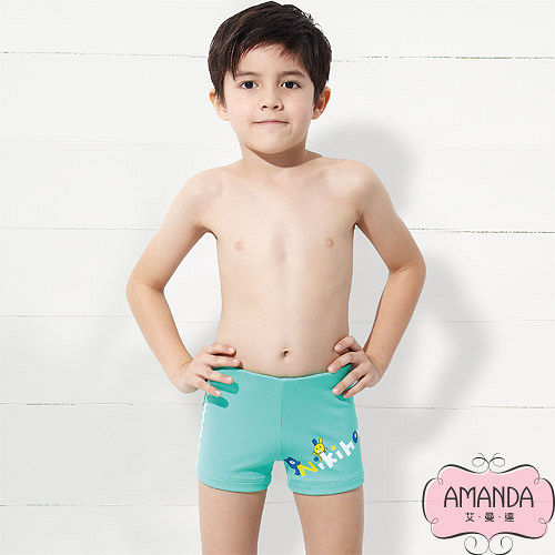 AMANDA 艾曼達 兒童泳褲 二分-藍海-65明耀 百貨 公司901