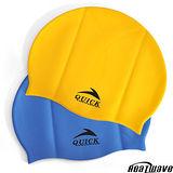 熱浪泳帽-Quick高彈力純矽膠泳帽