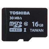 TOSHIBA 16GB microSDHC UHS-I Class10 30MB/s高速手機卡(公司貨) - 加送萬用保護貼