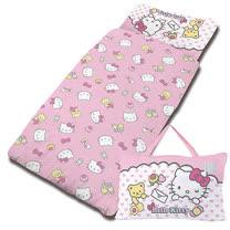 【享夢城堡】精梳棉舖棉冬夏兩用5X5兒童睡袋-HELLO KITTY 我的最愛-粉