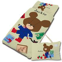【享夢城堡】超纖單用4X5兒童睡袋-The Bears School小熊學校 讀書樂(綠)