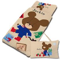 【享夢城堡】超纖單用4X5兒童睡袋-The Bears School小熊學校 讀書樂-卡其