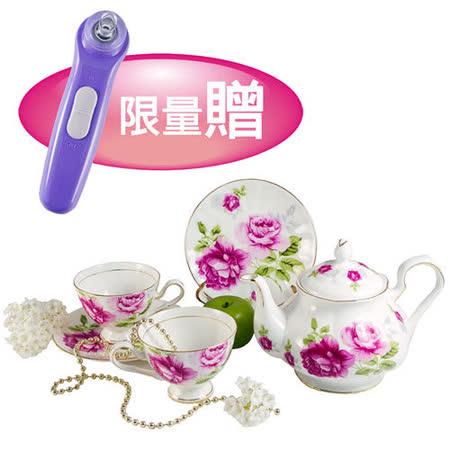 G&W秘密花園午茶組含1壺+2杯2盤+限量贈-黑頭粉刺清潔機