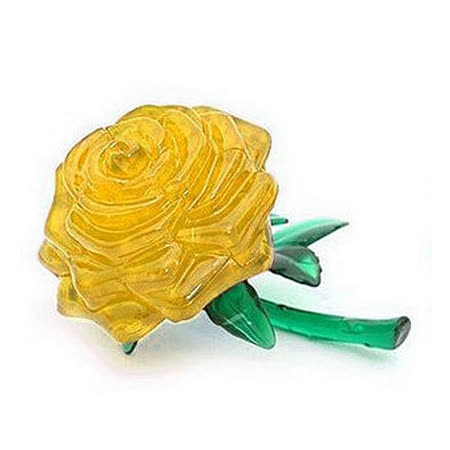 【iSFun】金黃玫瑰*立體水晶拼圖