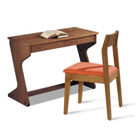 【幸福屋】德拉伯3.5尺胡桃色組合書房(書桌+椅)