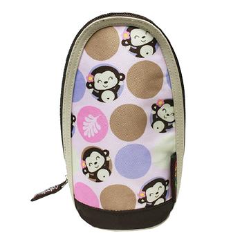 【Colorland】可掛可提奶瓶保溫袋(粉紅泡泡猴)