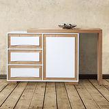 【幸福屋】  娜麗4尺白色伸縮餐櫃收納櫃