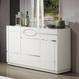 【幸福屋】 安琪拉4.3尺白色亮烤餐櫃/收納櫃