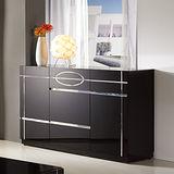【幸福屋】 安琪拉4.3尺黑色亮烤餐櫃/收納櫃