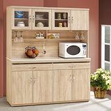 【幸福屋】 爾文5.2尺橡木紋原石碗盤餐櫃/收納櫃