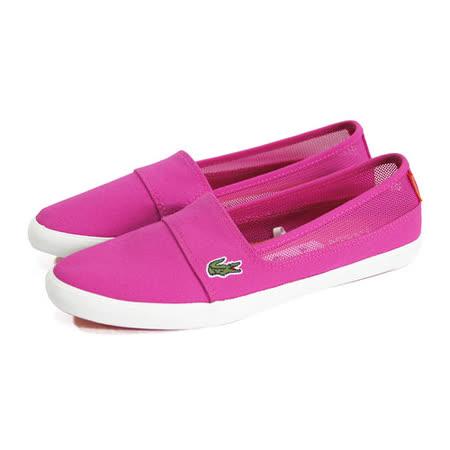 (女)LACOSTE MARICE AUR 休閒鞋 螢光粉紅-PJ1013-7F7