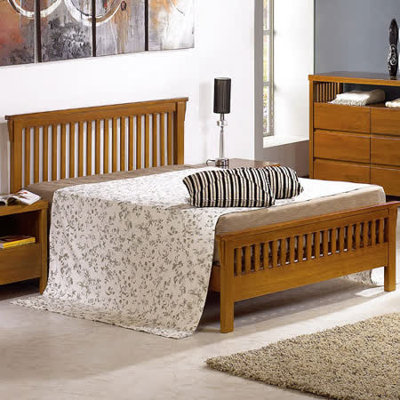 【幸福屋】魯本斯6尺柚木雙人床架(不含床墊)
