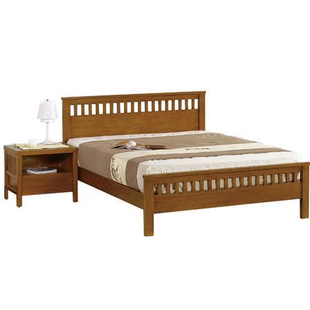 【幸福屋】哈魯斯6尺柚木雙人床架(不含床墊)