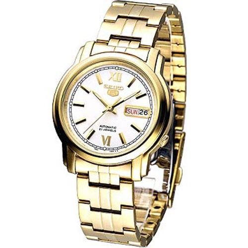 SEIKO 紳士金年代5號自動機械腕錶 ~白面