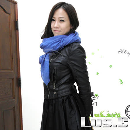 【Lus.G】輕紗韓流時尚絲質圍巾