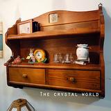 【水晶世界 The Crystal World】自然原味 鄉村實木壁櫃 / 櫥櫃