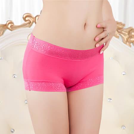 【Olivia】性感中腰竹纖維小寬邊無痕內褲-玫紅