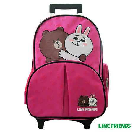 【LINE FRIENDS】可拆式拉桿書背包(E款_情侶款)