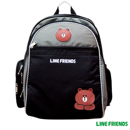 【LINE FRIENDS】MIT 成長型護脊書包(A款_無辜熊大)