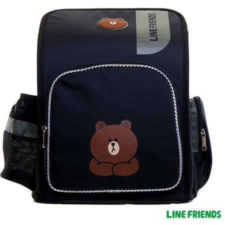 【LINE FRIENDS】MIT 舒壓護脊書包(A款_無辜熊大)