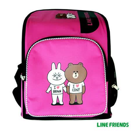 【LINE FRIENDS】MIT 舒壓護脊書包(C款_兔兔&熊大)