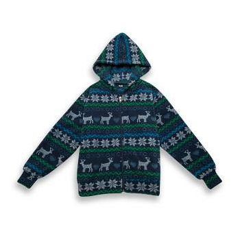 AIRPOWER 兒童超細搖粒絨連帽外套 (麋鹿綠色)