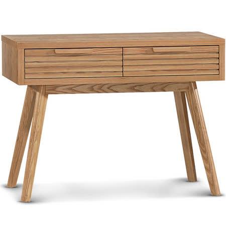 日式量販 歐風極簡設計款3.3尺實木書桌