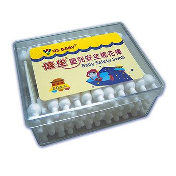優生 嬰兒安全棉花棒-方盒(60支)