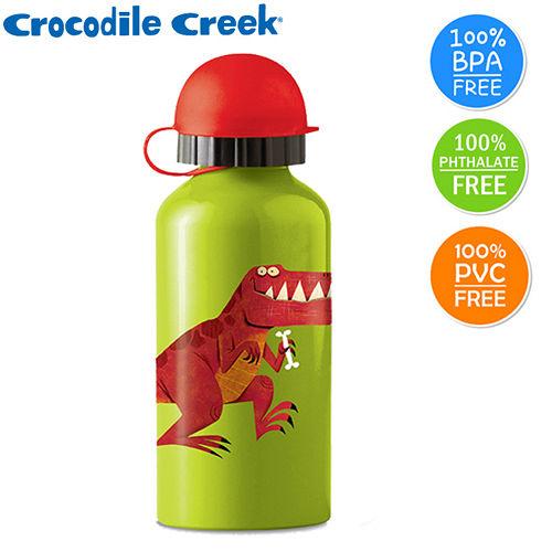 【美國Crocodile Creek】兒童不鏽鋼水瓶-暴龍
