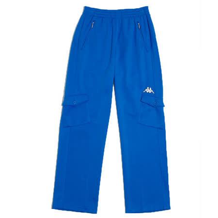 KAPPA義大利男吸濕排汗速乾針織休閒長褲~藍