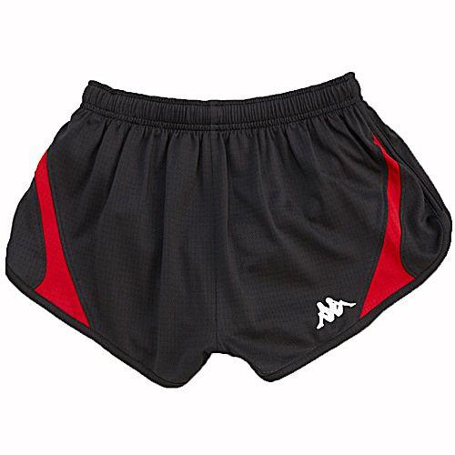 KAPPA義大利 型男吸濕排汗速乾田徑短褲1件~黑紅