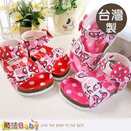 魔法Baby~台灣製專櫃款迪士尼米妮女童涼鞋~sh5526