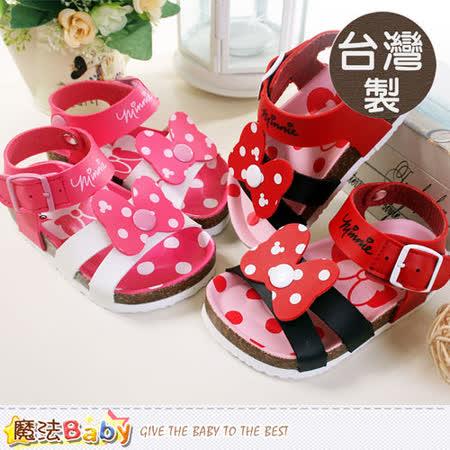 魔法Baby~台灣製專櫃款迪士尼米妮女童涼鞋~sh5533