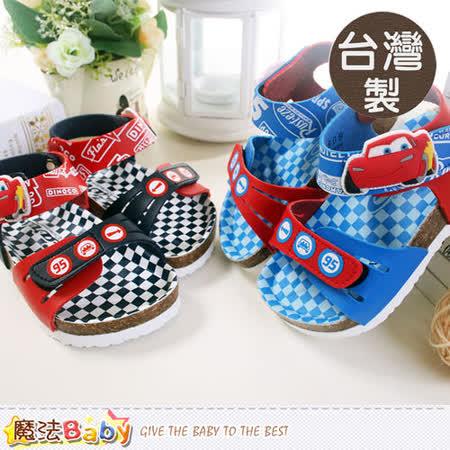 魔法Baby~台灣製專櫃款迪士尼閃電麥昆兒童涼鞋~sh5557