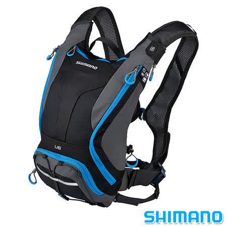 SHIMANO UNZEN 登山車水袋後背包6L 黑藍