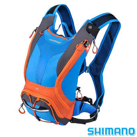 SHIMANO UNZEN 登山車水袋後背包6L 藍橘