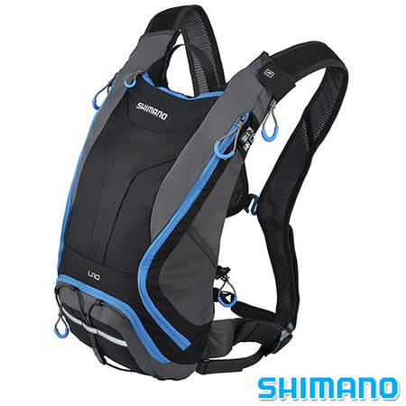 SHIMANO UNZEN 登山車水袋後背包10L 黑藍