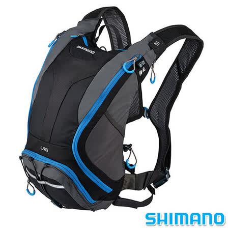 SHIMANO UNZEN 登山車水袋後背包15L 黑藍